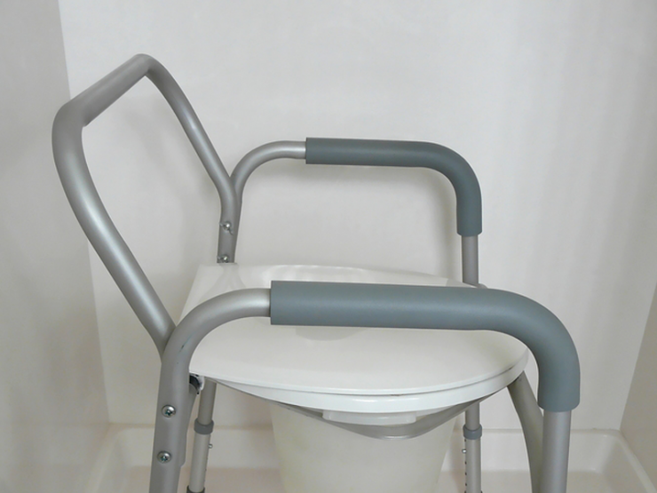 handicap toilet seat with handles