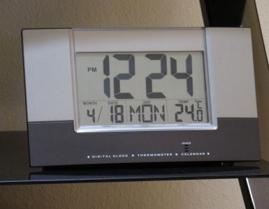 clock with day and date for elderly