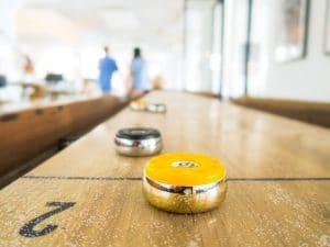 Shuffleboard game for elderly
