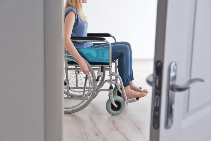 small wheelchair and narrow wheelchair