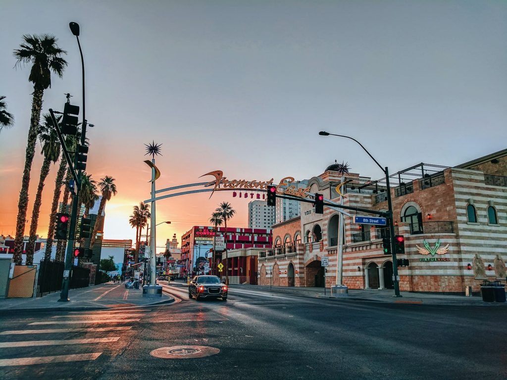 Las Vagas, Nevada during sunset