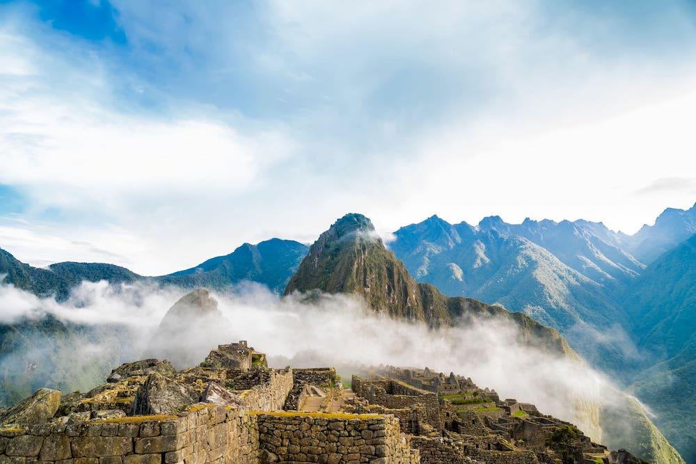 Mysterious citadel in Machu Picchu, Peru, South America