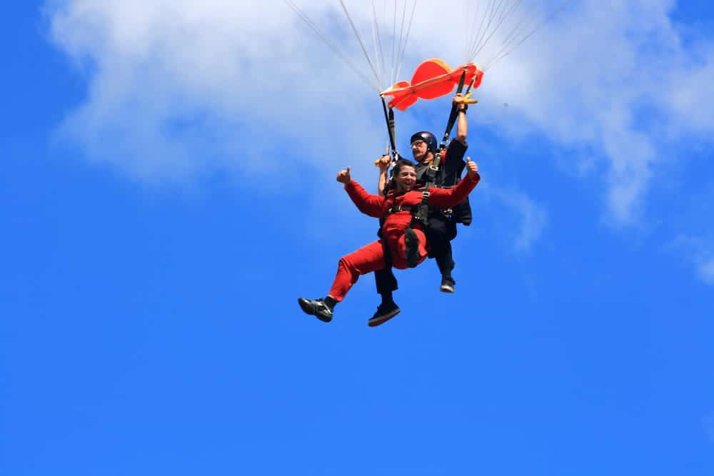 skydiving with wheelchair user