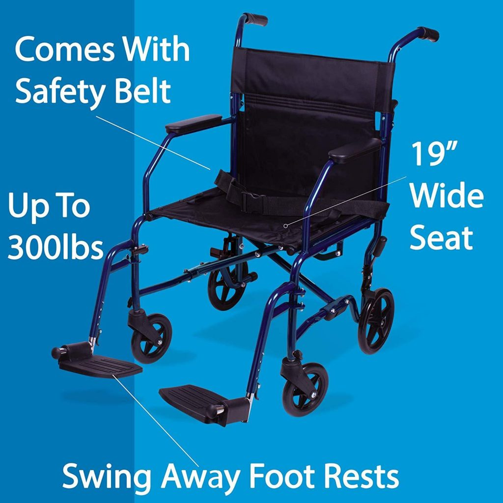 carex transport chair specifications