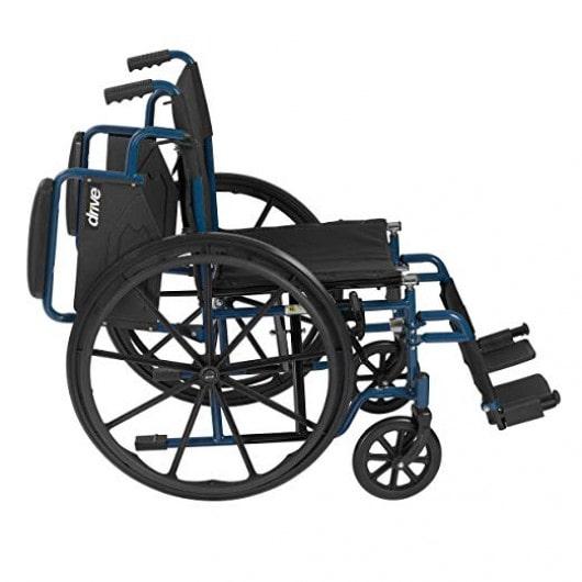 drive medical blue streak wheelchair flip-up armrest